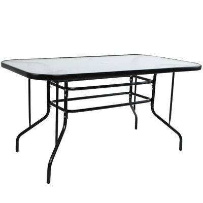 стол садовый для 6 Человек 80x140cm XXL Цвет Черный