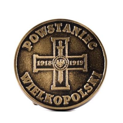 Medal na mogiłę Powstaniec Wielkopolski - Mosiądz