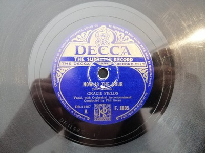 COME BACK TO SORRENTO/NOW IS THE HOUR DECCA F8805