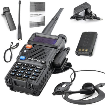 Baofeng UV-5R 8W HTQ Radiotelefon Krótkofalówka
