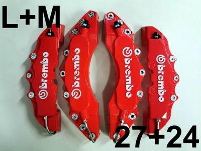 Nakładki 3D na zaciski hamulce BREMBO L+M Czerwone