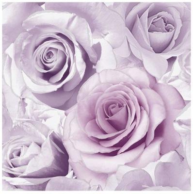 Tapeta ścienna efekt 3D kwiaty róże z brokatem