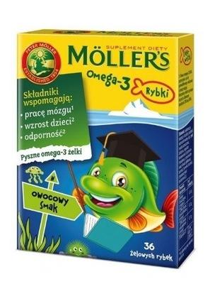 MOLLERS OMEGA-3 RYBKI 36 TRAN NORWESKI DHA OWOCOWE