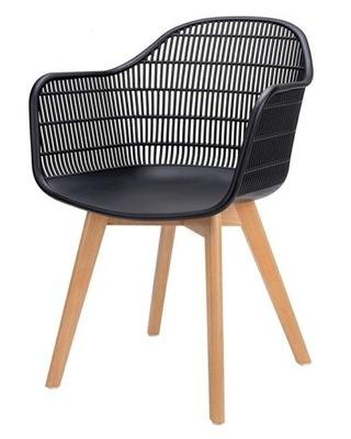Krzesło BASCO czarne/jesion