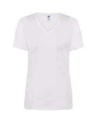 DAMSKA koszulka TSHIRT JHK serek COMFORT biała L