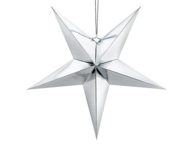 Gwiazda papierowa, 70cm, srebrny