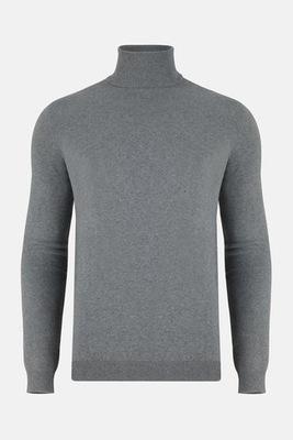 Szary golf męski sweter z golfem PAKO LORENTE r XL