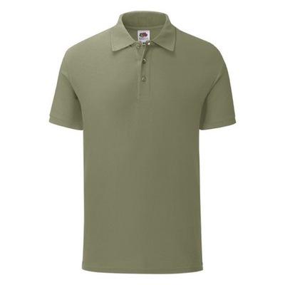Koszulka męska Iconic Polo FruitLoom oliwka L