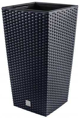 Donica RATO SQUARE 20x20x38cm + wkładka antracyt