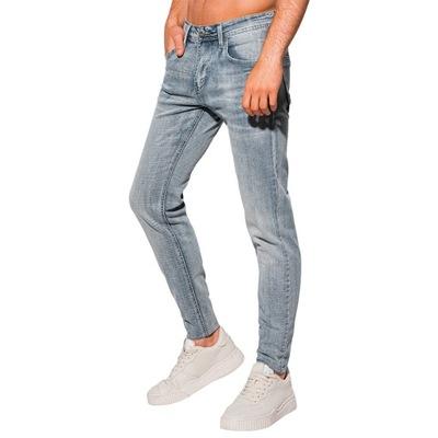 Spodnie męskie jeansowe 1106P niebieskie 34