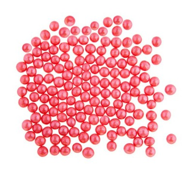 Perełki do dekoracji czerwone 60 g - ekon opakow