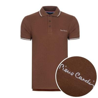 Koszulka polówka POLO PIERRE CARDIN brązowe L