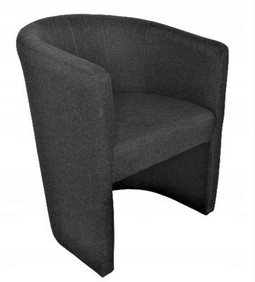 Fotel Klubowy Tomi - sawana 14 kolorów - c.szary
