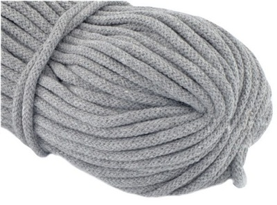 шнурок хлопковый 5мм Серый 2m