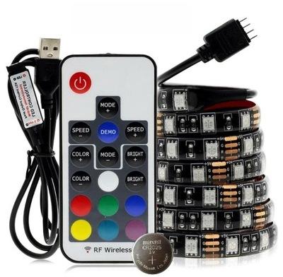 Taśma LED RGB do podświetlenia telewizora na USB