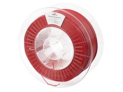 Filament Spectrum PLA Czerwony 1kg- GRATIS