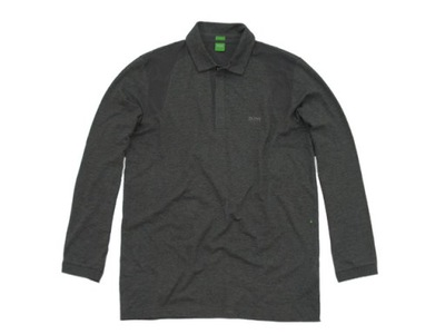 HUGO BOSS __ SLIM-FIT Bluza Longsleeve GREEN r XXL
