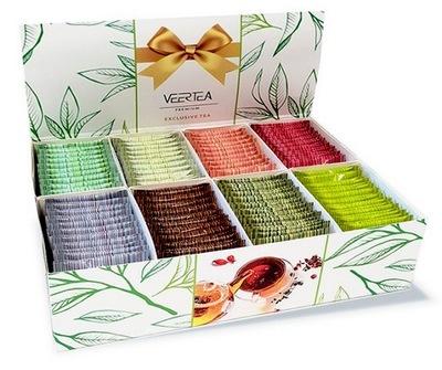 комплект чай VEERTEA 8 ароматов 160 конвертов подарок