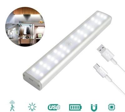 лампа беспроводная датчик движения USB шкаф