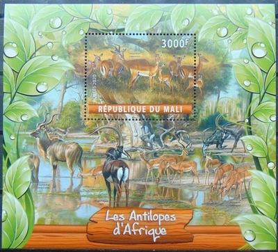 Antylopy afrykańskie fauna Mali 2020 blok #ML20-32