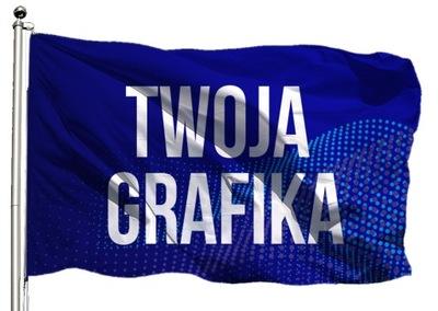 Flaga reklamowa 80x50cm firmowa Nadruk + Projekt