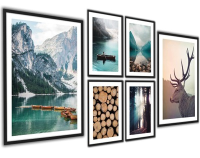 Plakaty obrazy w ramach Las Jeleń Góry DUŻA SERIA