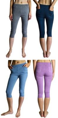 Krótkie spodnie jeansowe jegginsy 3/4 4XL/5XL