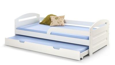 Natalie Białe łóżko Młodzieżowe Dziecięce Podwójne
