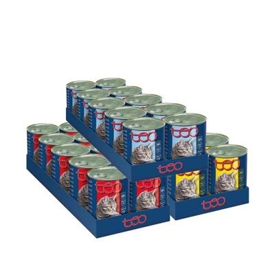 TEO корм для кошек птица/говядина /рыба 30x415g