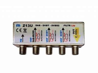 Zwrotnica antenowa MEZON Z13U, FM/VHF/UHF/UHF