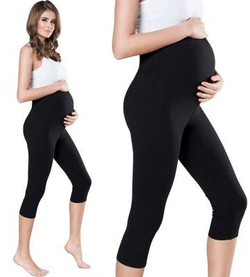 Bawełniane kryjące legginsy ciążowe 3/4 r L/40