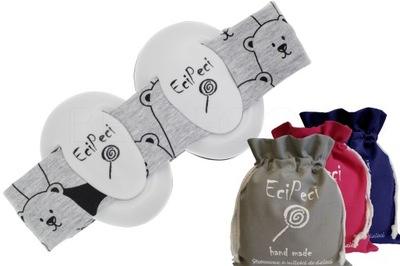 Ecipeci słuchawki wygłuszające Panda szary + worek