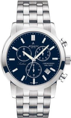 Zegarek męski Atlantic 62455.41.51 Chronograf Data