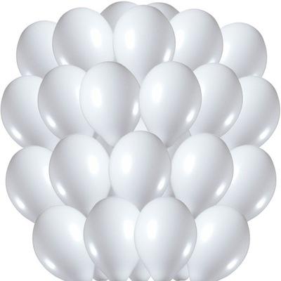 Białe Balony Pastelowe Belbal 33cm 100szt BP-002