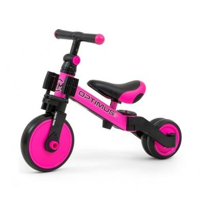 Rowerek biegowy trójkołowy Milly Mally Optimus 3w1