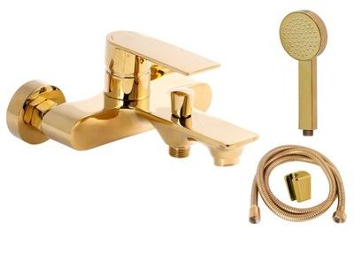 Zlatá vaňová batéria so sprchovou súpravou