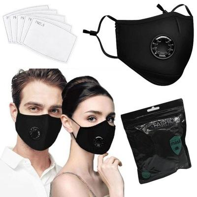 Maska maseczka  3 FILTR HEPA PM2.5 WĘGIEL FFP2