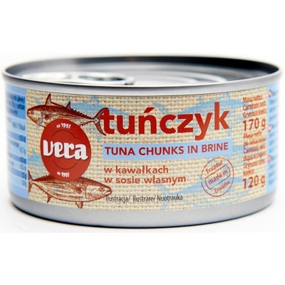 тунец кусочками на шампуре ВЕРА 170/120г