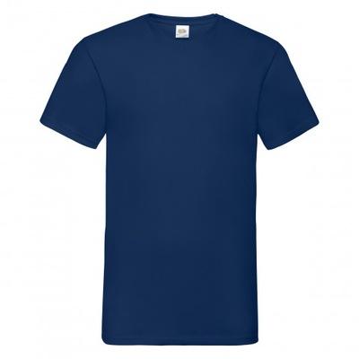 Koszulka męska Valueweight Vneck FruitLoom GranatM