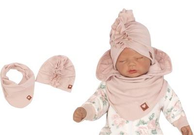 Czapka turban + chustka rozmiar 38/42 0-6 Miesięcy