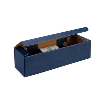 Pudełko ozdobne na butelkę 90x90x340 Granatowe
