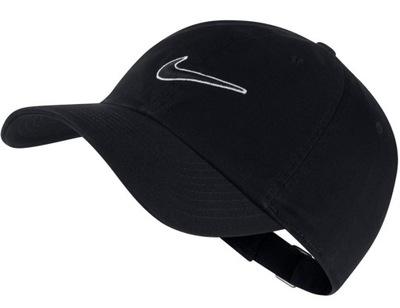 Bejsbolówka męska Nike czarna czapka z daszkiem
