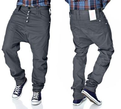 HUMOR SANTIAGO GREY 606 spodnie męskie baggy 32