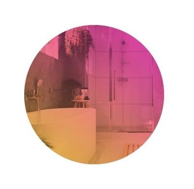 Nástenné zrkadlo okrúhle brúsené 70 cm dúha