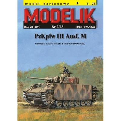 Modelik 2/03 PzKpfw III Ausf. M (Panzer III) 1:25