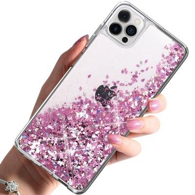 Etui do iPhone 12 Pro Brokat Płynny Case + Szkło