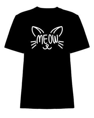 Młodzieżowa Koszulka kot MEOW różne kolory 158-164