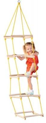Sznurkowa Drabinka dla dzieci Drewniana do 60kg CE