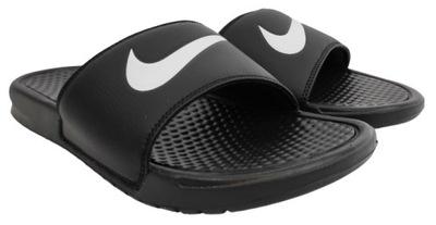 Klapki Nike Benassi Swoosh Czarne Basen Sportowe