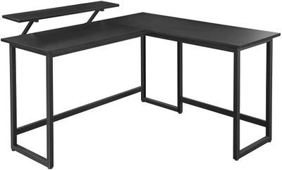 Рабочий стол угловые чердак черные с nadstawką